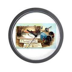 Contentment and Peace Wall Clock