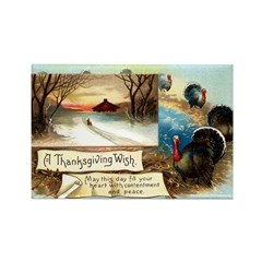 Contentment and Peace Rectangle Magnet (100 pack)