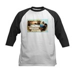 Contentment and Peace Kids Baseball Jersey