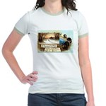 Contentment and Peace Jr. Ringer T-Shirt