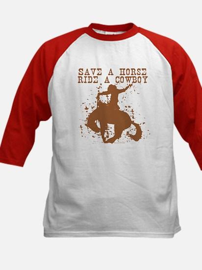 Save a horse, ride a cowboy. Kids Baseball Jersey