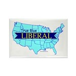True Blue American LIBERAL | Rectangle Magnet