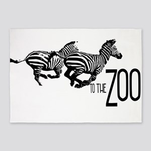 To the Zoo! 5'x7'Area Rug