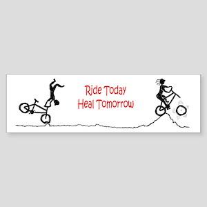 Mountain Biking Ride Today Bumper Sticker