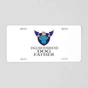 English Foxhound Dog Father Aluminum License Plate