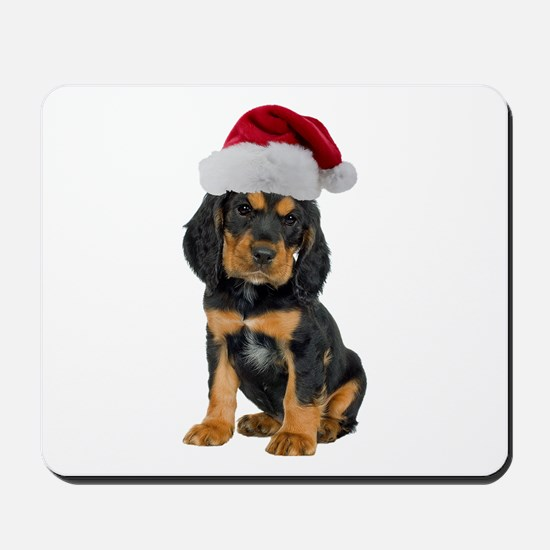 Gordon Setter Christmas Mousepad