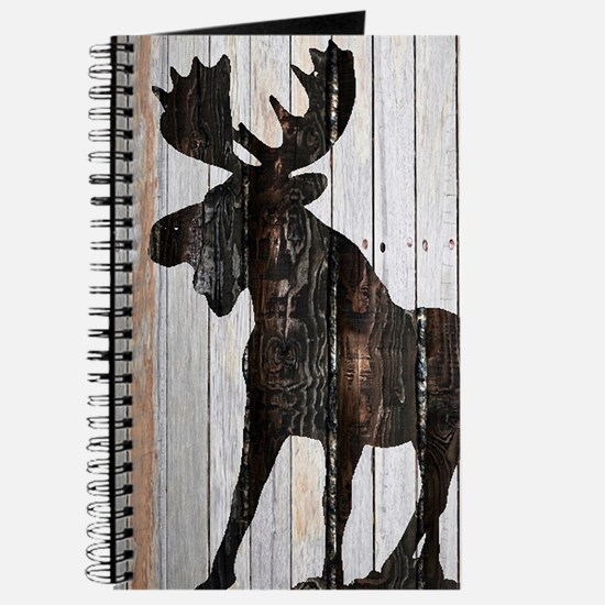 Moose Stance on Wood by Leslie Harlow Journal