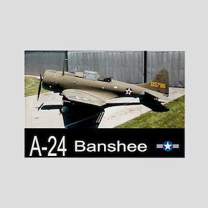 A-24 Banshee Dive Bomber Rectangle Magnet