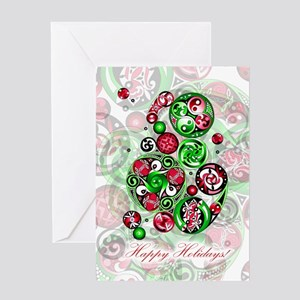 Christmas Celtic Spirals Greeting Card