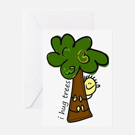 I Hug Trees Greeting Card