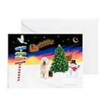 XmasSigns/Old English #3 Greeting Cards (Pk of 10)