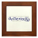 Dyslexia.tv Logo Framed Tile