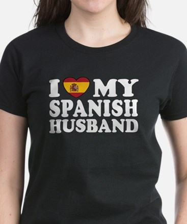 I Love My Spanish Husband Women's Dark T-Shirt