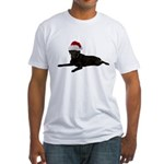 Black Lab Christmas Fitted T-Shirt