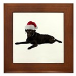 Black Lab Christmas Framed Tile