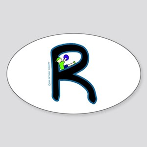 R (Boy) Oval Sticker