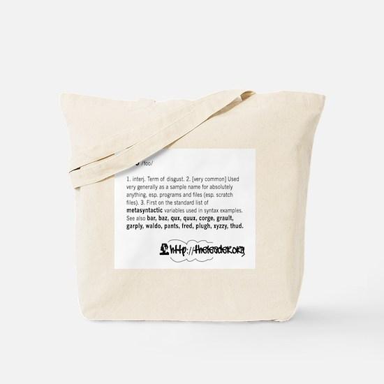 Foo Definition Tote Bag