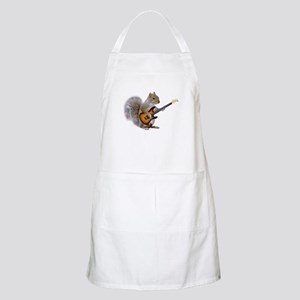 Squirrel Guitar BBQ Apron