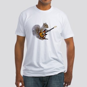 Squirrel Guitar Fitted T-Shirt