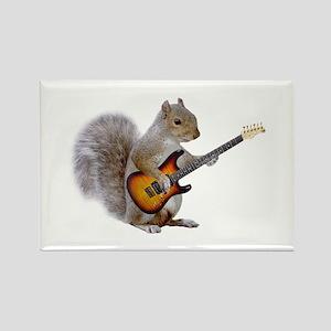 Squirrel Guitar Rectangle Magnet
