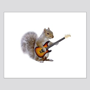 Squirrel Guitar Small Poster
