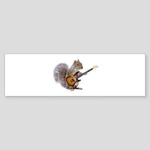 Squirrel Guitar Bumper Sticker