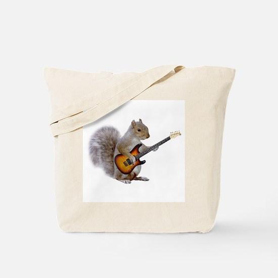 Squirrel Guitar Tote Bag
