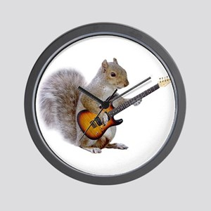 Squirrel Guitar Wall Clock