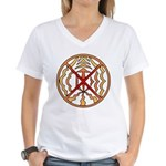 Native Spirit Art Women's V-Neck T-Shirt
