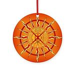 Native Spirit Art Round Ornament