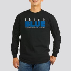 think BLUE Long Sleeve Dark T-Shirt