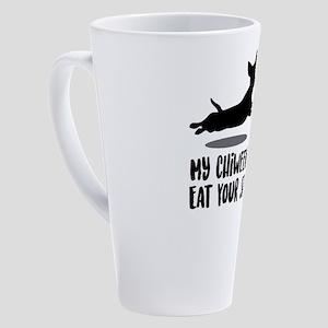 My Chiweenie's Eat Your Stick 17 oz Latte Mug