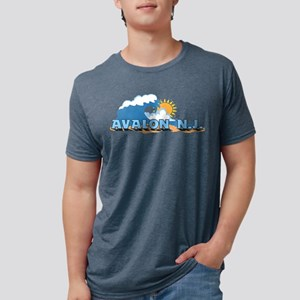 Avalon NJ - Waves Design T-Shirt