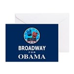 BROADWAY FOR OBAMA Greeting Cards (Pk of 20)