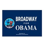 BROADWAY FOR OBAMA Postcards (Package of 8)