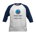 BROADWAY FOR OBAMA Kids Baseball Jersey