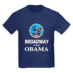 BROADWAY FOR OBAMA Kids Dark T-Shirt
