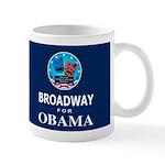 BROADWAY FOR OBAMA Dark Mug