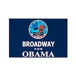 BROADWAY FOR OBAMA Rectangle Magnet (100 pack)