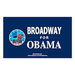 BROADWAY FOR OBAMA Rectangle Sticker 50 pk)