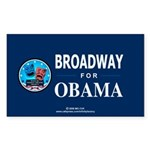 BROADWAY FOR OBAMA Rectangle Sticker
