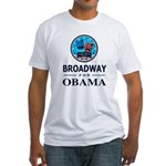 BROADWAY FOR OBAMA Fitted T-Shirt