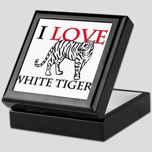 I Love White Tigers Keepsake Box