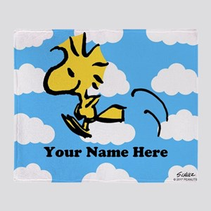 Woodstock Flying Personalized Throw Blanket