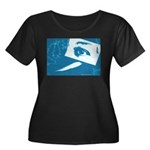 Chain Eye Women's Plus Size Scoop Neck Dark T-Shir