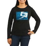 Chain Eye Women's Long Sleeve Dark T-Shirt