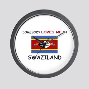 Somebody Loves Me In SWAZILAND Wall Clock