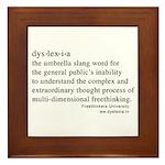 Dyslexia definition Framed Tile