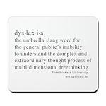 Dyslexia definition Mousepad