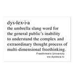 Dyslexia definition Postcards (Package of 8)
